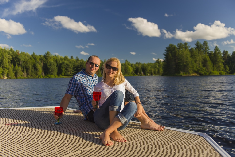 Couple on ThruFlow Decking