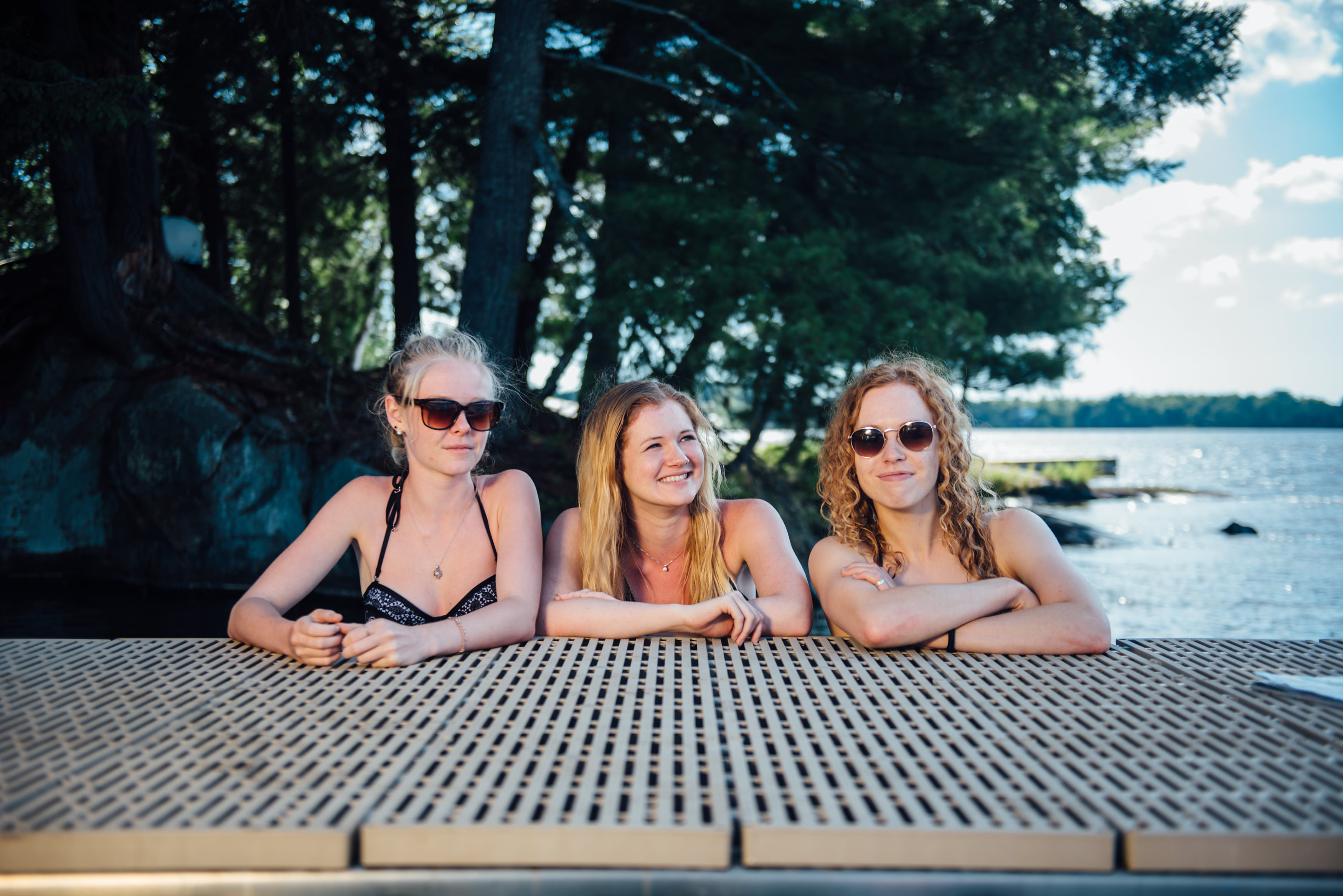 Girls on ThruFlow Decking