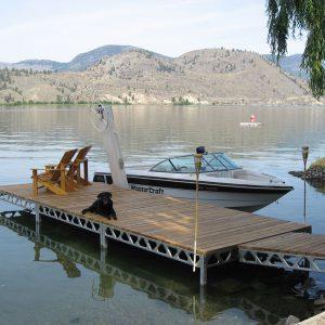 8'x8' Dock with 1'-4' Leg Length- Assembled- CanadaDocks