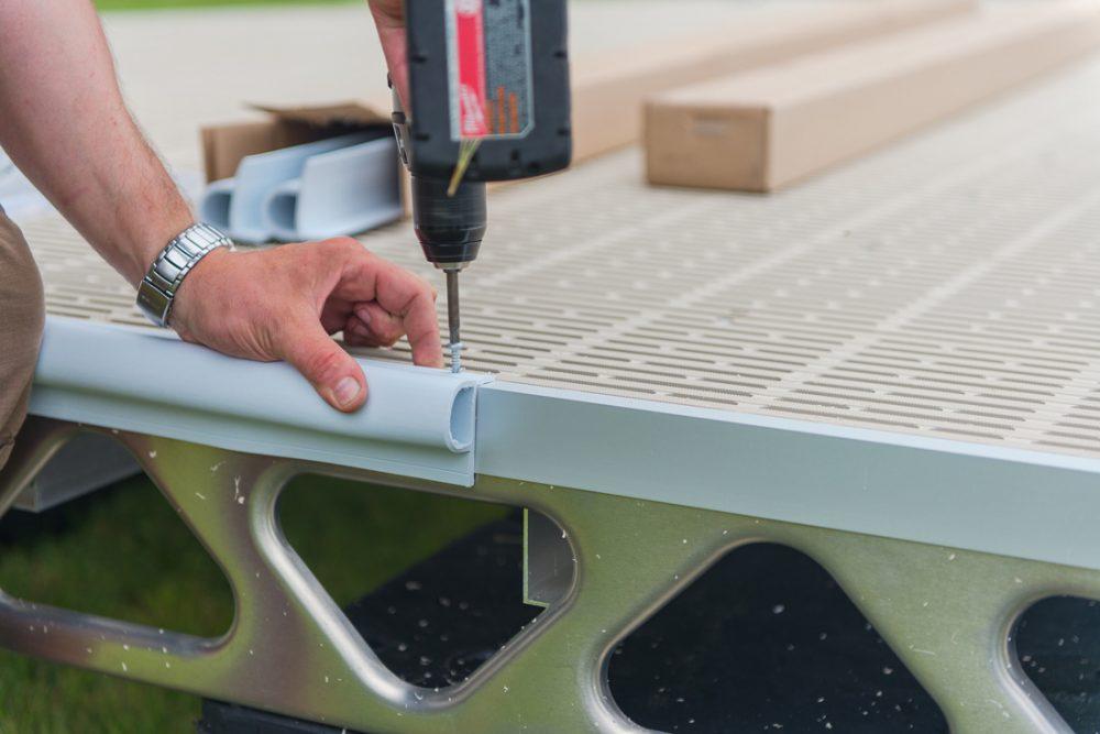 Installing CanadaDocks white P dock bumper