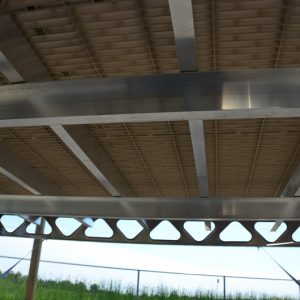 Aluminum Joists Kit for 8′x8′ CanadaDocks™- Underside View
