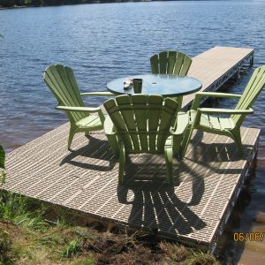 8′x8′ CanadaDocks™ Aluminum Dock Complete Kit with 1′-4′ legs- completed
