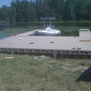 8′x8′ CanadaDocks™ Aluminum Dock Complete Kit with 1′-4′ legs- customer install