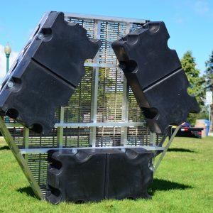 CanadaDocks floating hexagon on display in Barrie