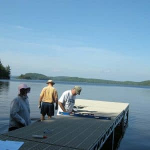 Leveling the 4x8 CanadaDocks standing dock kit