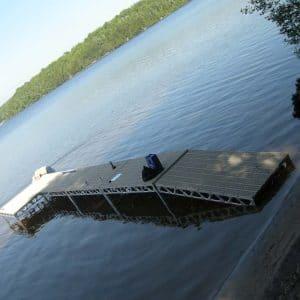 CanadaDocks standing dock off the shore