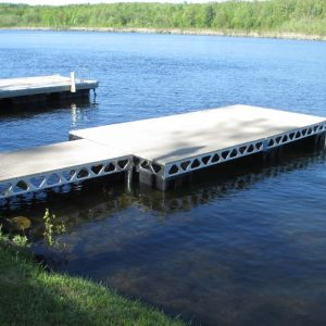 CanadaDocks 8x16 floating dock with 4x8 standing panel