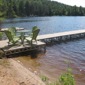 CanadaDocks standing dock with 8x8 patio section