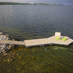 8′x16′ CanadaDocks™ Complete Floating Dock Kit- Assembled