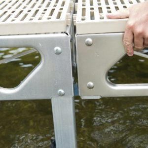 """8'x8' Complete Quick Link Dock Kit with 1""""-4"""" Leg Length- CanadaDocks™"""