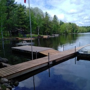 CanadaDocks dock and floating island install