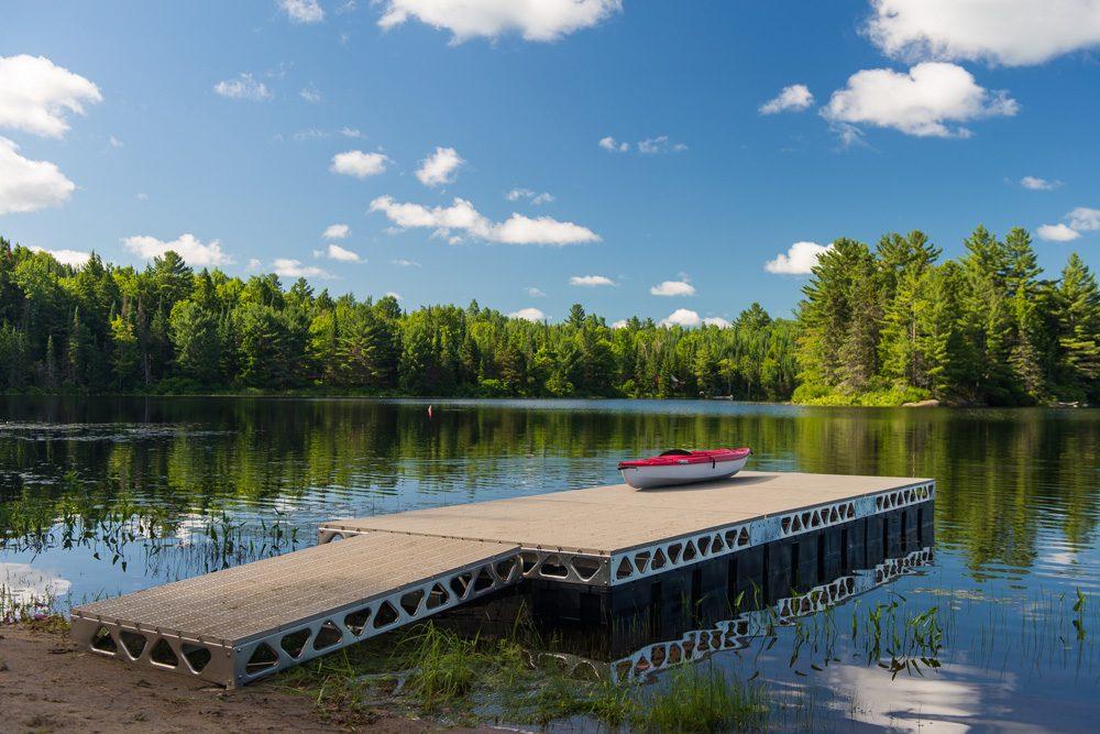 Kayak on a 8x24 floating dock