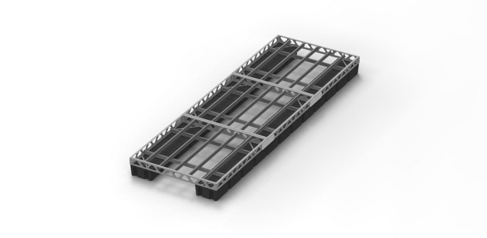 CanadaDocks 8x24 floating dock frame