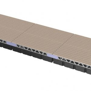 CanadaDocks complete 8x24 floating dock kit with decking