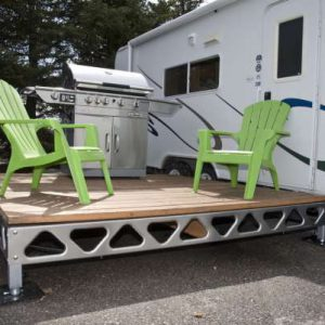 CanadaDocks do it yourself dock sections used as a quick set up patio