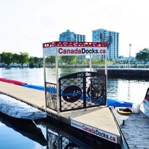 CanadaDocks and RailingArt sponsorship dock at barries dragon boat race