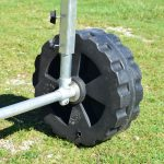 CanadaDocks wheel kit attached to the dock