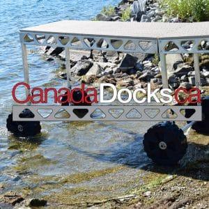 CabadaDocks Standing dock wheel kit with logo