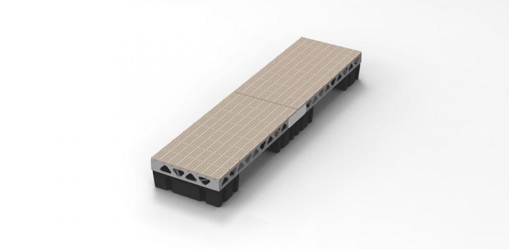 CanadaDocks complete 4x16 floating dock kit