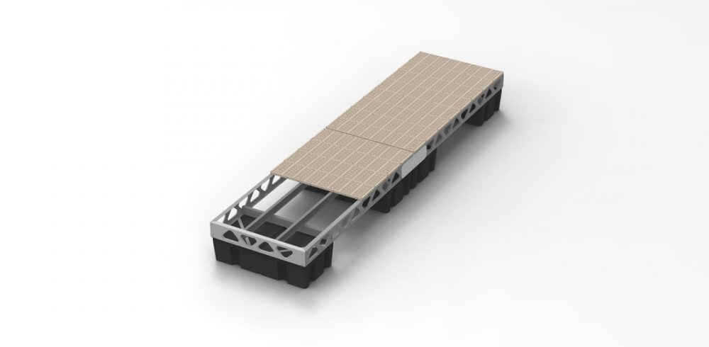 4x16 floating dock section