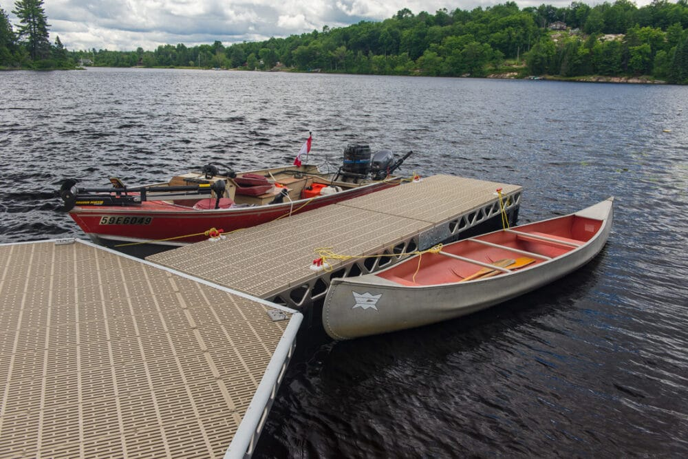 CanadaDocks do it yourself floating aluminum dock with boats