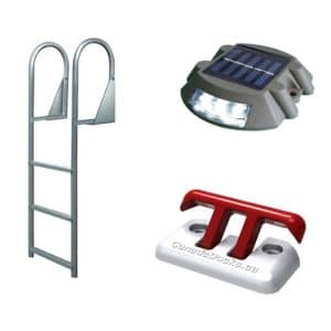 CanadaDocks cleat, ladder and solar LED dock light