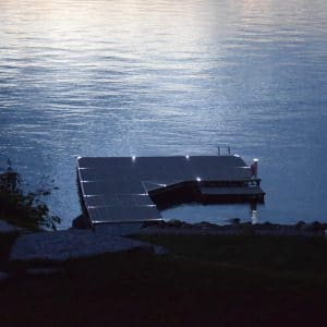 Solar Dock Lights Installed on Dock