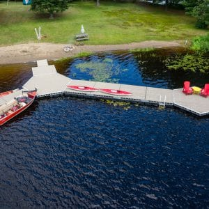 Aerial Show of CanadaDocks Floating Dock