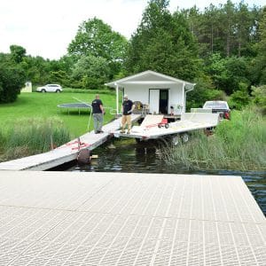 Installing Large Floating Dock Configuration