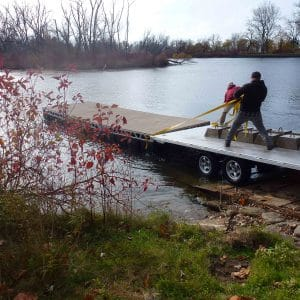 CanadaDocks Crew Installing 8 x 24 Floating Dock