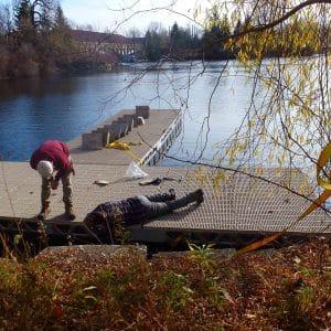 CanadaDocks Installation Crew Installing Dock Accessories