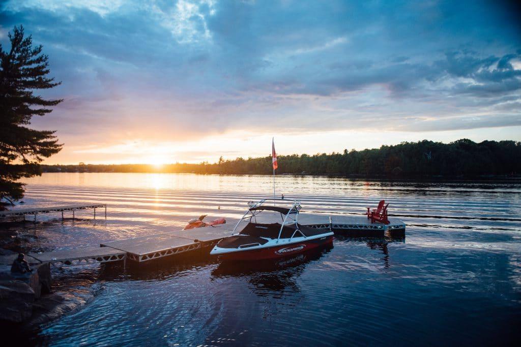 CanadaDocks Dock Configuration at Sunset