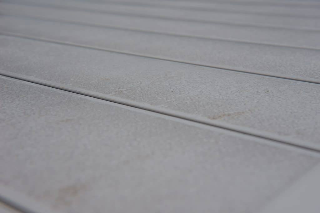 Gray AlphaDeck grooved surface profile.