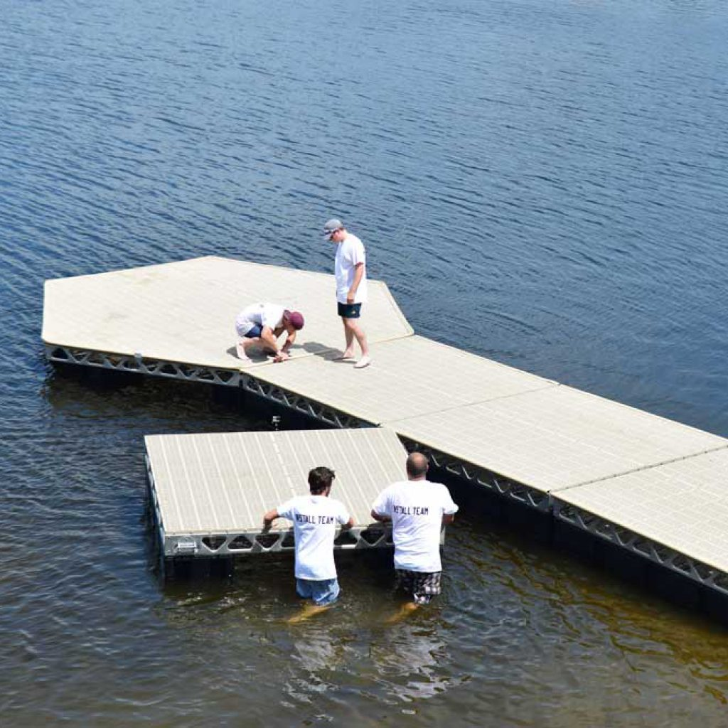 Installation of 8x8 Floating Dock Section