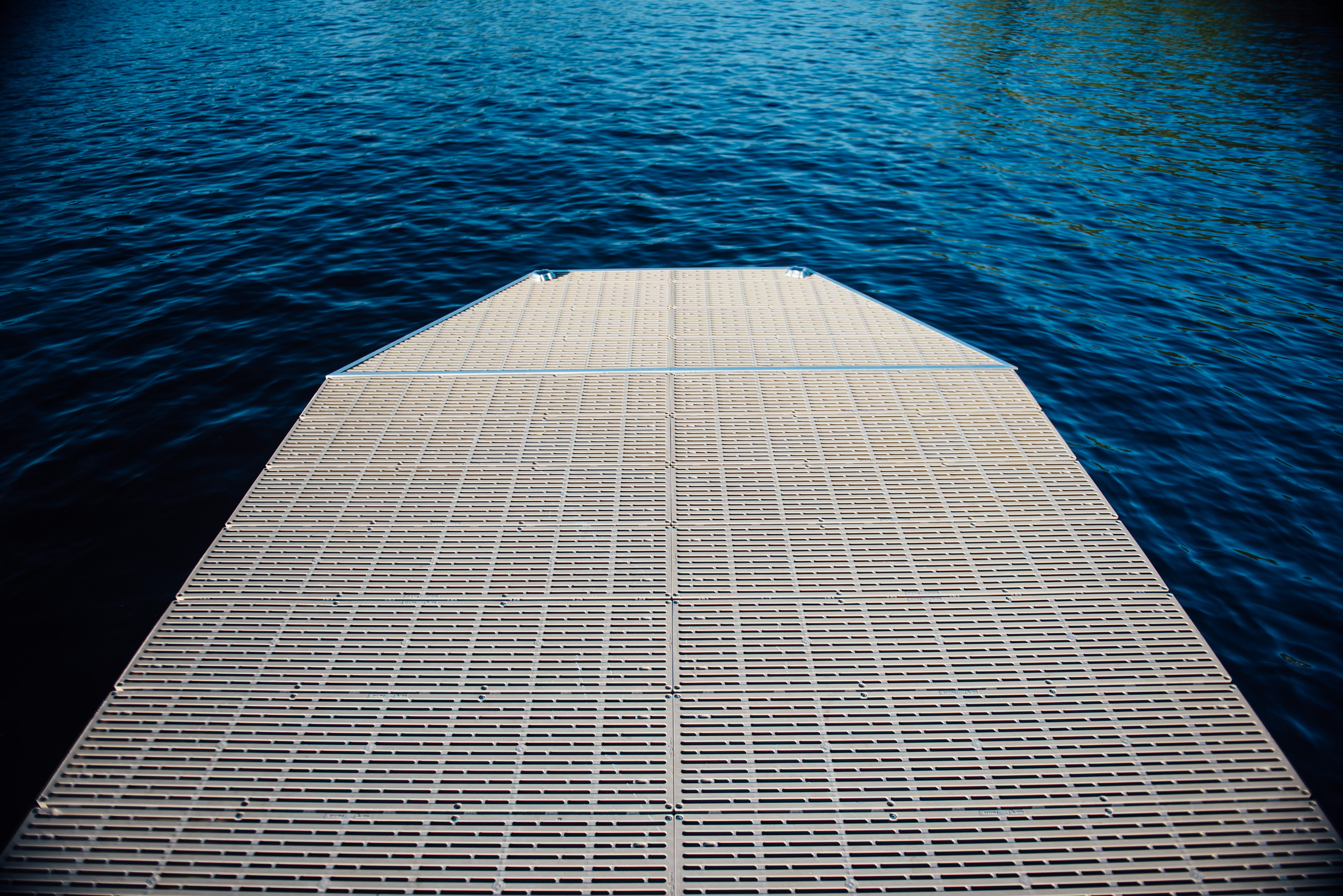 Hextension added to a 4x8 floating dock section