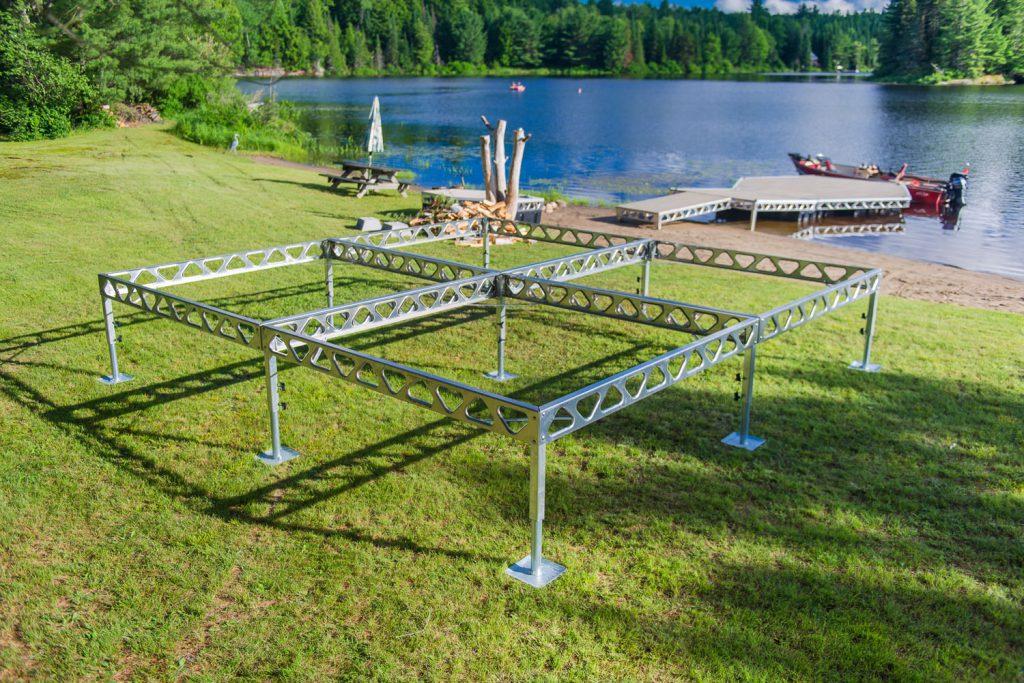 8x8 Aluminum Standing Dock Frames