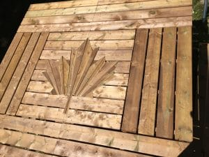 Canadian Maple Leaf in Wood Decking