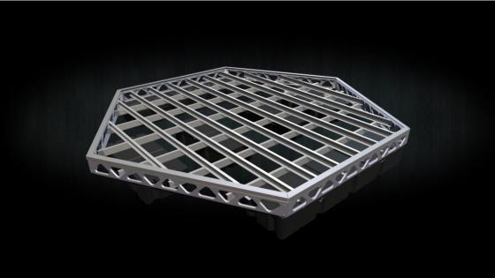 DIY 14x16 floating hexagon dock frame
