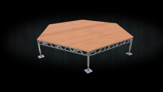 Aluminum 14x16 Standing hexagon dock with cedar decking