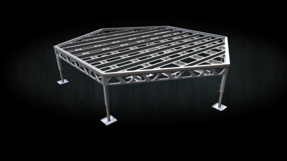 DIY Aluminum 14x16 Standing Hexagon Dock Frame