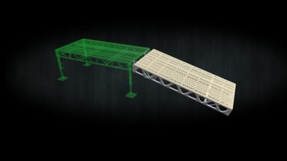 A DIY 4x8 ramp kit with thruflow decking
