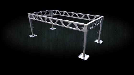 4x8 DIY standing dock aluminum frame