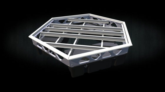 DIY aluminum hexagon floating dock frame