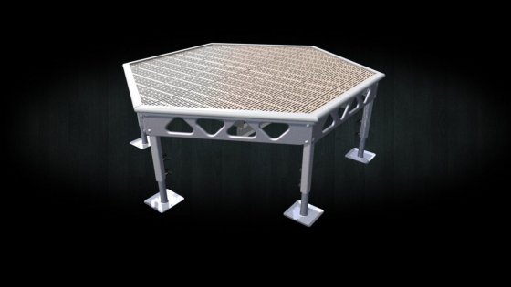 Do it yourself 7x8 standing aluminum hexagon dock