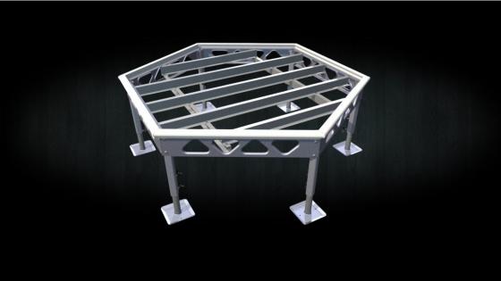 Do it yourself 7x8 Standing hexagon dock aluminum frame