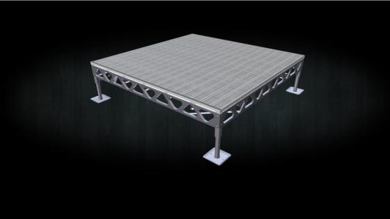 DIY aluminum standing dock with AlphaDeck