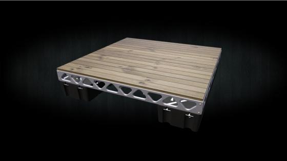 8x8 Floating DIY dock with cedar decking