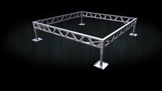 DIY aluminum standing dock 8x8 frame