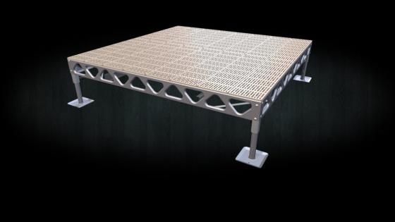 Do it yourself 8x8 standing aluminum dock