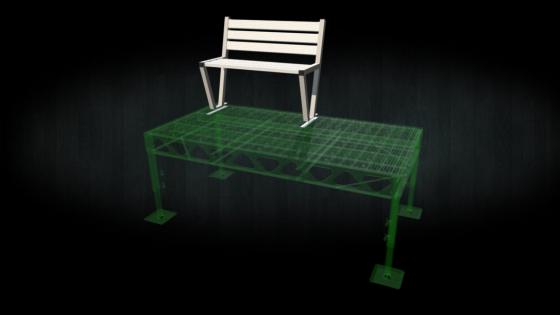 Aluminum dock bench